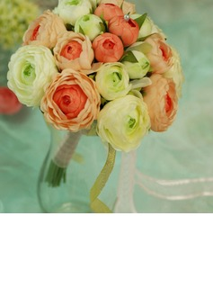 Comely Round Satin Bridesmaid Bouquets