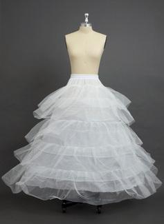 Women Nylon/Tulle Netting Floor-length 5 Tiers Petticoats