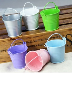 Lovely Cylinder Metal Favor Pails (Set of 12)