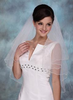 Jednowarstwowe Elbow ślubny Welony Z Z Obrębkiem w Ząbki