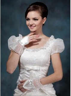 Satin Wrist Length Bridal Gloves/Flower Girl Gloves