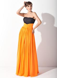 Imperialna Bez ramiączek Tren Watteau Chiffon Lace Suknia dla Mamy Panny Młodej Z Żabot