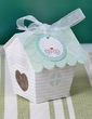 Cute House Shaped Cupcake Boxes With Ribbons (Set of 12) (050032973)