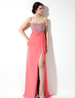 Empire Sweetheart Floor-Length Chiffon Prom Dress With Beading Sequins Split Front (018005358)