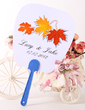 Personalized Maple Leaf Plastic Hand Fans (118029532)