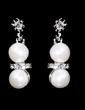 Elegant Alloy/Pearl With Rhinestone Women's Jewelry Sets (011028398)