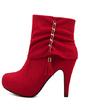 Süet İnce Topuk Ayak bileği Boots ayakkabı (088056663)