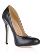 Leatherette Stiletto Heel Pumps Closed Toe shoes (085017500)