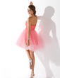 A-Line/Princess Sweetheart Short/Mini Tulle Homecoming Dress With Ruffle Beading Sequins (022008959)