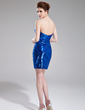 Sheath/Column Sweetheart Short/Mini Sequined Cocktail Dress With Beading (018019181)