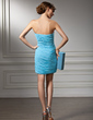 Sheath/Column Sweetheart Short/Mini Chiffon Cocktail Dress With Ruffle Beading (016008419)