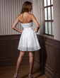 Empire Sweetheart Short/Mini Chiffon Taffeta Homecoming Dress With Ruffle (022011437)