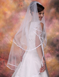 Two-tier Waltz Bridal Veils With Ribbon Edge (006003747)