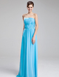 A-Line/Princess Strapless Floor-Length Chiffon Bridesmaid Dress With Ruffle (007019616)