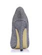 Leatherette Stiletto Heel Pumps Platform Closed Toe shoes (085017487)