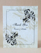 Personalized Floral Design Hard Card Paper Thank You Cards (Set of 50) (118029383)
