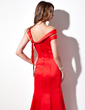 Trumpet/Mermaid Off-the-Shoulder Ankle-Length Satin Evening Dress (017016058)