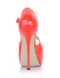 Patent Leather Stiletto Heel Sandals Platform Peep Toe shoes (085022627)