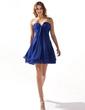 A-Line/Princess Sweetheart Short/Mini Chiffon Homecoming Dress With Ruffle Beading (022020616)