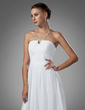 A-Line/Princess Sweetheart Floor-Length Chiffon Prom Dress With Ruffle (018005106)
