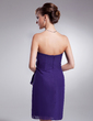 Wąska Bez ramiączek Krótka/Mini Chiffon Sukienka na Zjazd Absolwentów (022010569)