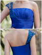 A-Line/Princess One-Shoulder Floor-Length Charmeuse Sequined Mother of the Bride Dress With Ruffle Beading (008022935)