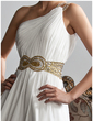 A-Line/Princess One-Shoulder Floor-Length Chiffon Prom Dress With Ruffle Beading Sequins Split Front (018020706)