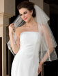 Four-tier Fingertip Bridal Veils With Cut Edge (006036622)