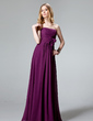 Empire Sweetheart Floor-Length Chiffon Bridesmaid Dress With Ruffle Flower(s) (007004311)