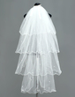 Four-tier Fingertip Bridal Veils With Scalloped Edge (006005383)