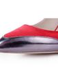 Saten İnce Topuk Bağcıksız Kapalı Parmak Ile Yivli Conta ayakkabı (085038686)
