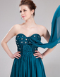 Empire Sweetheart Floor-Length Chiffon Evening Dress With Ruffle Beading Sequins (017019742)