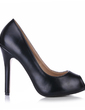 Leatherette Stiletto Heel Sandals Platform Peep Toe shoes (085020587)
