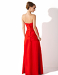 Trumpet/Mermaid Strapless Floor-Length Satin Bridesmaid Dress With Ruffle (007001894)