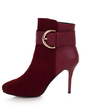 Süet İnce Topuk Ayak bileği Boots Ile Toka ayakkabı (088056387)