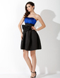 Empire Sweetheart Short/Mini Satin Sequined Homecoming Dress With Ruffle Bow(s) (022020935)