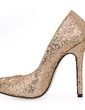 Women's Sparkling Glitter Stiletto Heel Closed Toe Pumps With Sequin (047015207)