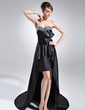 A-Line/Princess Sweetheart Asymmetrical Charmeuse Prom Dress With Beading (018015692)