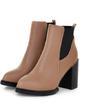 Suni deri Kalın Topuk Ayak bileği Boots ayakkabı (088056385)