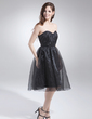 A-Line/Princess Sweetheart Knee-Length Organza Homecoming Dress With Ruffle (022015690)