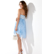 Empire Sweetheart Knee-Length Chiffon Homecoming Dress With Beading Sequins (022009019)