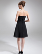 A-Line/Princess Strapless Knee-Length Chiffon Mother of the Bride Dress With Ruffle (008016750)