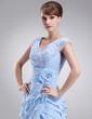 Linia A/Księżniczka Dekolt w Serek Do Podłogi Chiffon Lace Suknia dla Mamy Panny Młodej (008006404)