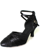 Women's Satin Sparkling Glitter Heels Pumps Modern Ballroom Dance Shoes (053008916)