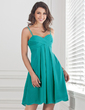 Empire Sweetheart Short/Mini Chiffon Bridesmaid Dress With Ruffle (007001460)