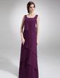 Çan/Prenses Yuvarlak Yaka Uzun Etekli Chiffon Gelin Annesi Elbisesi (008006140)