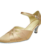 Women's Satin Heels Pumps Modern Dance Shoes (053013390)