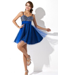 Empire Sweetheart Short/Mini Tulle Homecoming Dress With Beading Sequins (022020594)