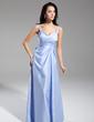 Çan/Prenses V Yaka Uzun Etekli Taffeta Gece Elbisesi (017014916)