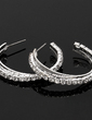 Shining Alloy With Rhinestone Ladies' Earrings (011018496)